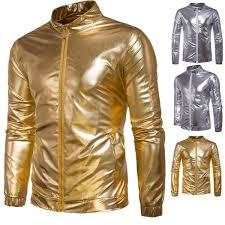 gold sliver fly pilot jacket party airborne flight tactical er jacket men winter aviator motorcycle