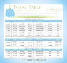 table linen sizing chart tablecloth contessa