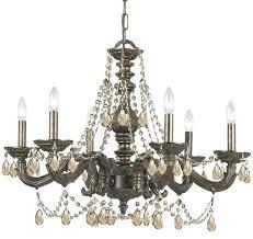 bronze chandelier with crystals market 6 light golden teak crystal bronze chandelier bronze crystal chandelier home