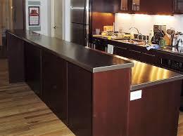 bi level stainless steel island countertops stainless steel machine hammered texture