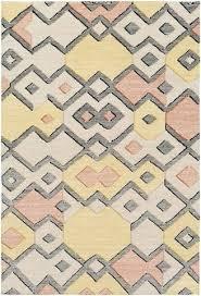 rug in burnt orange lime green black tan and cream grey white rugs