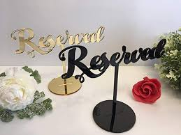 Reserved Table Sign For Weddings Event Birthday Party Seating Plan Freestanding Acrylic Gold Wedding Reception Decor Custom Signs Decorations