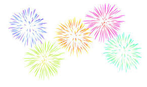 new years fireworks white background. New Year Fireworks In Years White Background