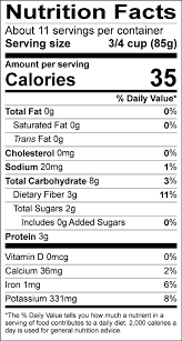 shaved brussels sprouts nutrition label
