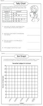 School Grade Chart Data Tables And Graphs Worksheets