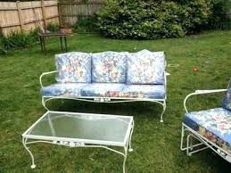 vintage iron patio furniture. Plain Iron Meadowcraft Lawn Furniture Vintage Iron Patio Porch 6 White Rose  Unused Metal Outdoor Chairs  On Vintage Iron Patio Furniture S