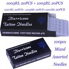Mixed Assorted Sterilize Hurricane Tattoo Needles