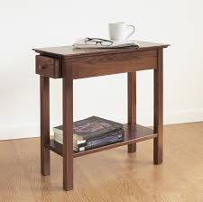 chair side table. finish: chestnut chair side table