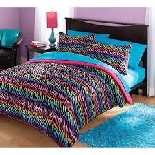3 piece girls rainbow zebra stripes