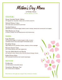 Mothers Day Menu Templates And Designs Musthavemenus