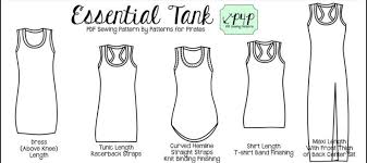 Tank Top Pattern Custom The Essential Tank By Patterns For Pirates WildWanderful
