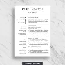Modern Resume Template For Word Minimalist Resume Design 2 Page Resume Download Simple Resume Template Cv Template For Word