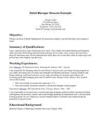 Sample Resume For Aldi Retail Assistant Striking Sample Resume Retail Sales Manager Samples Qualifications 15