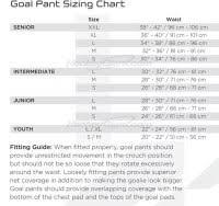 Bauer Goalie Pants Size Chart Bauer Leg Pad Sizing Chart Bauer Goalie Pad Hover To