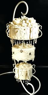 hanging from the chandeliers chandelier wedding cake by cakes hanging chandeliers in trees