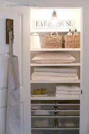 Bathroom Closet Organization Ideas Custom 48 Beautifully Organized Linen Closets The Happy Housie