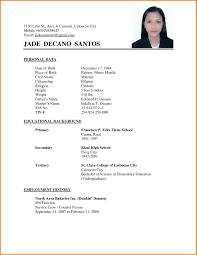 Sample Resume For Abroad Application Elegant A Simple Resume For Job