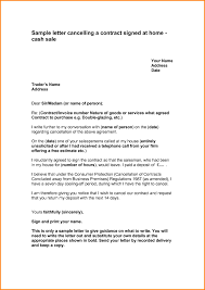 contract letter cancellation letter contract cover letter example