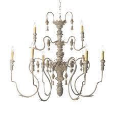catania 6 light vintage style french country wooden chandelier