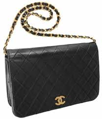 Chanel Black Quilted Lambskin Classic Vintage Snap Flap Shoulder ... & Chanel Black Quilted Lambskin Classic Vintage Snap Flap Shoulder Bag Clutch  | Lollipuff Adamdwight.com