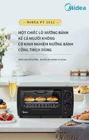 Lò nướng điện đa năng Midea-PT1011 lò nướng bánh nhỏ điều khiển nhiệt độ  mini dùng trong gia đình thiết bị nướng bánh,10L