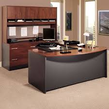incredible office furnitureveneer modern shaped office. Bush Series C U-Shaped Desk With 4 Door Hutch And Lateral File. Ideas Office Incredible Furnitureveneer Modern Shaped E