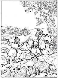 Kleurplaat Herders 3 11 Jaar Bijbels Opvoedennl With Regard To