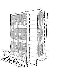 modern architecture sketch. Modern Architecture Denver Highrise Hand Render Sketch 8