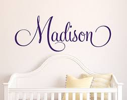 image of personalized name wall decals for kids