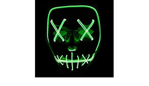 <b>Halloween Masks</b> Festival Party Cosplay LED Light Up Mask ...