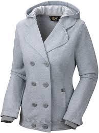 pea coats mountain hardwear grettana fleece jacket hooded