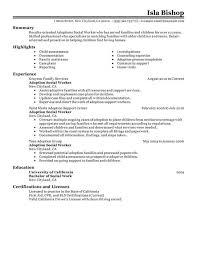 cover letter social worker resume samples sample resume for process worker