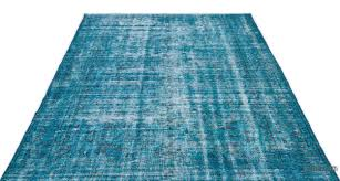 turquoise over dyed turkish vintage rug 5 10 x 9 7 70 in x 115 in