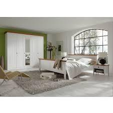 Schlafzimmerset Korsika 4 Teilig Weißbernsteinfarben Landhaus