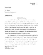 a prayer for owen meany documents course hero essay owen meany