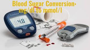 blood sugar conversion mg dl to mmol l