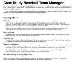 Coding Hierarchy Chart Case Study Baseball Team Manager For This Case Stu