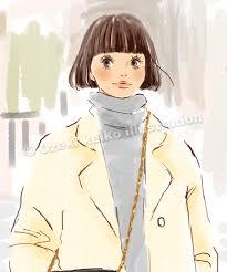 ボブヘアーの女性イラスト イラストレーター小関恵子の仕事帖関西
