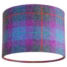 table lamp and harris tweed check shade