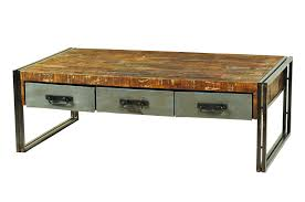 pottery barn reclaimed wood round coffee table and metal canada furniture drawers turned leg solid hand toronto dining living room retro rustic with