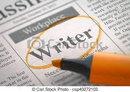 writer job vacancy d writer vacancy in newspaper stock  writer job vacancy 3d csp40272103