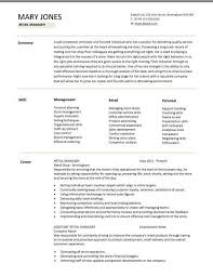 setting out a cv retail manager cv template resume examples job description