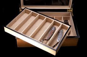 knife display case lt wood glass presentation box