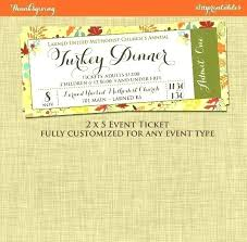 Banquet Tickets Sample Edit Field Fundraising Tickets Template Free Dinner Edit