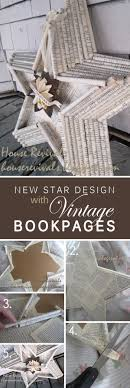 vine book page star wall art