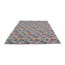 land of nod wool multi colored circle rug land of nod