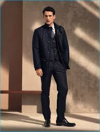 22 best Quilted Jacket images on Pinterest   Menswear, Quilted ... & Sam Webb sports a navy quilted jacket over a waistcoat and trousers from  Salvatore Ferragamo's pre Adamdwight.com