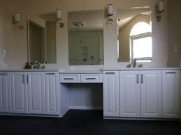 built in bathroom vanity cabinets. white painted cabinet with quartz countertop vanity anizers and built in makeup three beveled bathroom cabinets r
