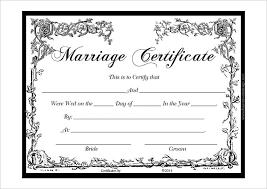 Wedding Certificate Template Beauteous Marriage Certificate Template PDF Certificate Templates