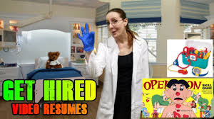 Get Hired! Video Resume - Surgeon/nurse/doctor - Youtube